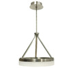 Style Selections Lynnpark 23.76-in Brushed Nickel Single Pendant