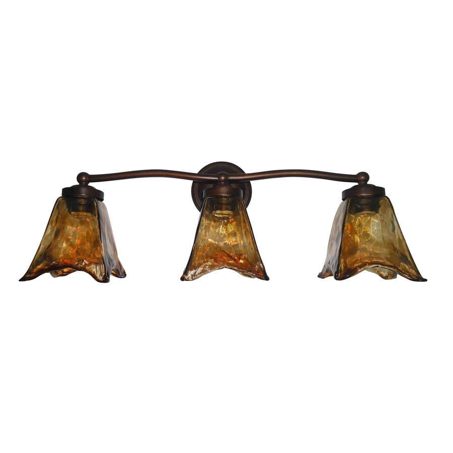 Shop Portfolio 3-Light Oil-Rubbed Bronze Bathroom Vanity Light at Lowes.com