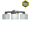 lowes deals on allen + roth 3-Light Brushed Nickel Bathroom Vanity Light