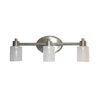 Style Selections 3-Light Style Selection Brushed Nickel and Chrome Bathroom Vanity Light