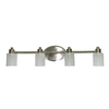 Style Selections 4-Light Style Selection Brushed Nickel and Chrome Bathroom Vanity Light