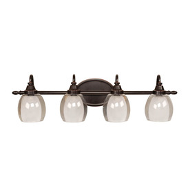 Shop allen   roth 4Light Bronze Bathroom Vanity Light at Lowes.com