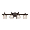 allen + roth 4-Light Bronze Bathroom Vanity Light