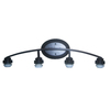Portfolio 4-Light Bronze Bathroom Vanity Light