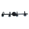 Portfolio 4-Light Weathered Bronze Bathroom Vanity Light