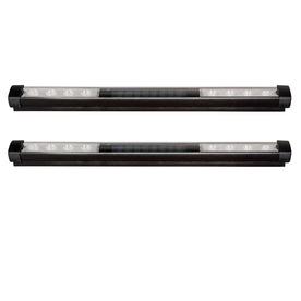 Litex 2-Pack Black Solar-Powered LED Deck Lights