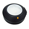 Litex Black Solar-Powered LED Deck Light