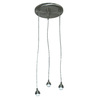 Portfolio 3-Light Nickel Mini Pendant Light Fixture