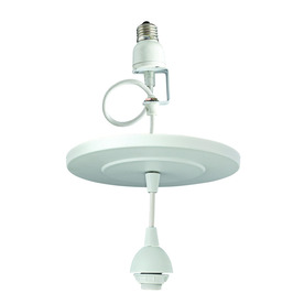 Portfolio Matte White Recessed Can to Mini Pendant Light Conversion Kit