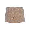 Style Selections 9-in x 13-in Cork Fabric Drum Lamp Shade