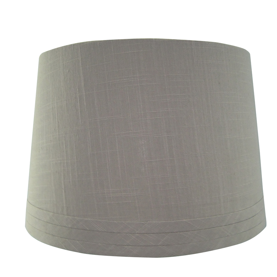 Shop Allen Roth 10 In X 15 In Gray Drum Lamp Shade At