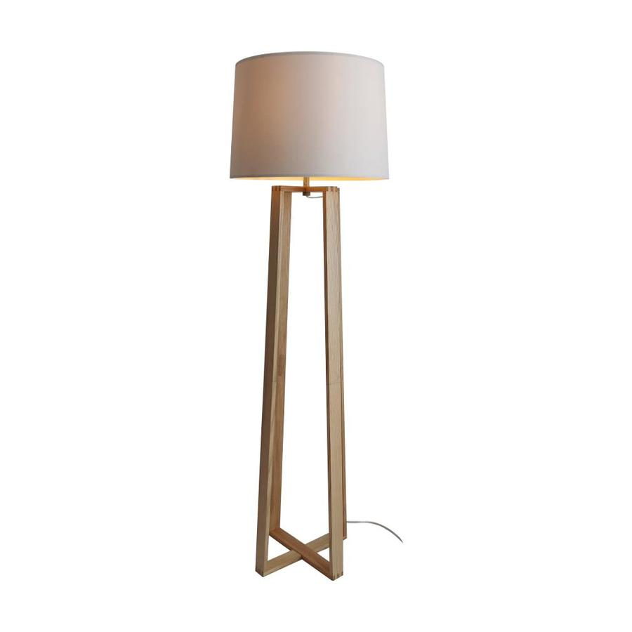 Scott Living 65 75 In Natural Shaded Floor Lamp The Lamps Department At Lowes Com