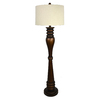 allen + roth 62-in 3-Way Bronze Indoor Floor Lamp with Fabric Shade