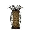 Portfolio 16-in Yellow/Copper Indoor Table Lamp with Fabric Shade