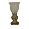 Portfolio 11-in Antique Brown Indoor Table Lamp with Glass Shade