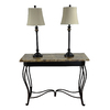 Portfolio Barada 3-Piece Bronze Casual/Transitional Standard Lamp Set with Fabric Shades