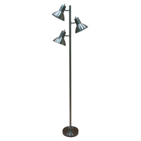 nickel indoor floor lamp with fabric shade cheap price storage x. Black Bedroom Furniture Sets. Home Design Ideas