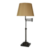 allen + roth Hillam 31-in Bronze Indoor Table Lamp with Fabric Shade