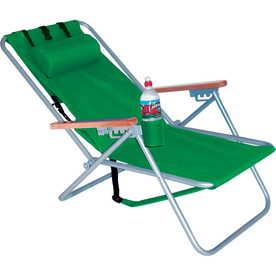 RIO Brands Indoor/Outdoor Steel Beach Folding Chair