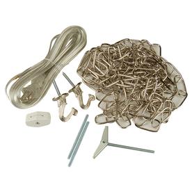 shop portfolio nickel metal swag light kit at