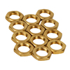 Portfolio 12-Pack Solid Brass Locknuts