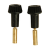 Portfolio 2-Pack Black Replacement Knobs
