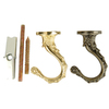 Portfolio Antique/Polished Brass Swag Hook Kit