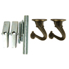 Portfolio Screw Hooks 2-Pack Antique Brass