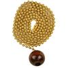 Portfolio Walnut/Polished Brass Pull Chain
