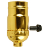 Portfolio Brass 3-Wire Medium Base Socket