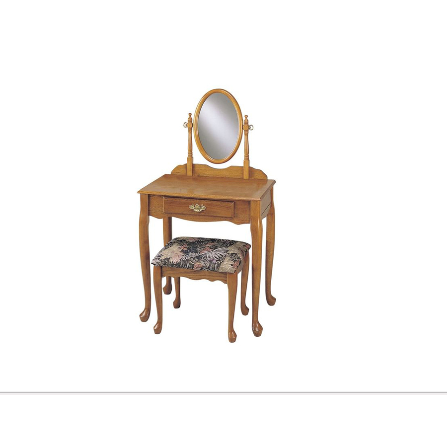 Shop Powell Oak Makeup Vanity At Lowes.com
