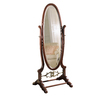 Powell 63-in x 25.25-in Oval Floor Standing Mirror