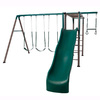 LIFETIME PRODUCTS Monkey Bar Adventure Swing Set Metal Playset with Swings