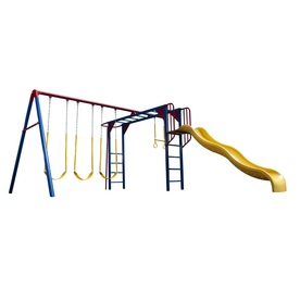 LIFETIME PRODUCTS Monkey Bar Adventure Residential Metal Playset with Swings