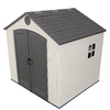 LIFETIME PRODUCTS Gable Storage Shed (Common: 8-ft x 7.5-ft; Actual Interior Dimensions: 7.5-ft x 7-ft)