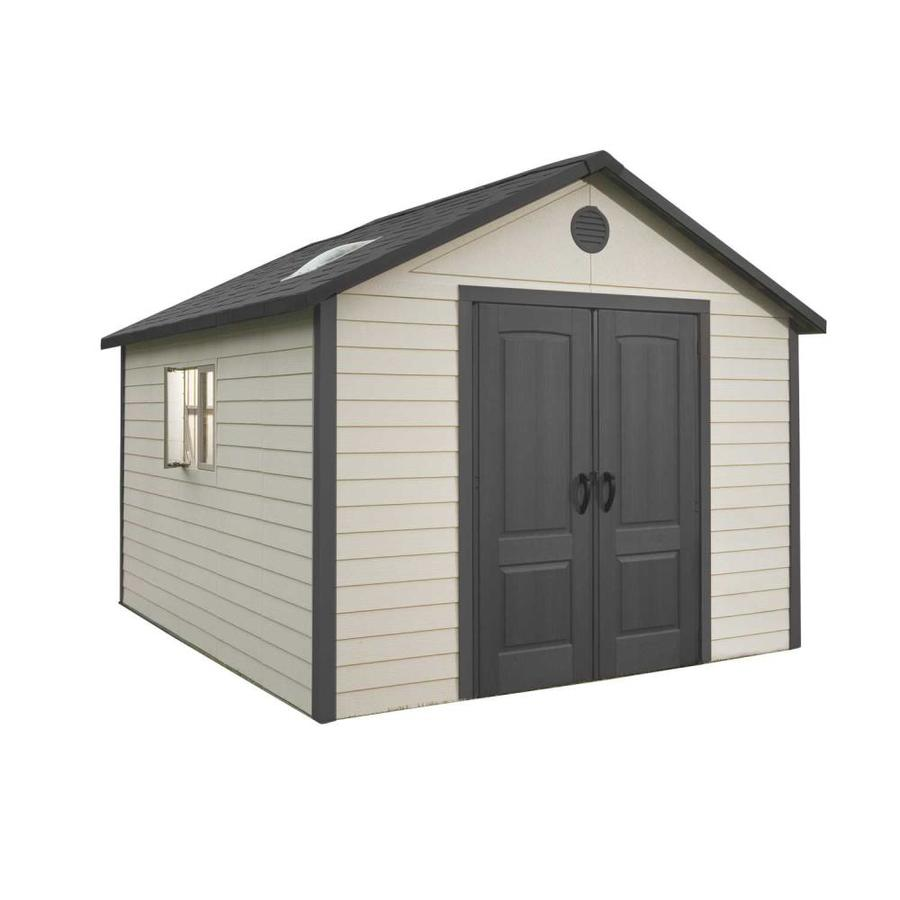 Shop lifetime products gable storage shed common 11 ft x 13 5 ft