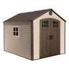 LIFETIME PRODUCTS Gable Storage Shed (Common: 8-ft x 10-ft; Actual Interior Dimensions: 7.5-ft x 9.5-ft)