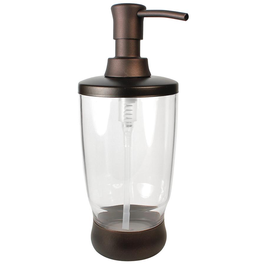 Shop Interdesign Clear Bronze Soap Lotion Dispenser At