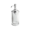 interDesign Clear / Chrome Soap Dispenser