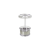 interDesign Dylan Clear Stainless Steel Toothbrush Holder