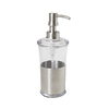 interDesign Clear and Brushed Stainless Steel Soap Dispenser