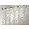 interDesign Pebblz EVA/PEVA White with Print Patterned Shower Curtain