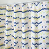 interDesign Zana Polyester Multi Pastel Colors with A Geometric Pattern Patterned Shower Curtain