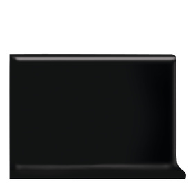 Shop American Olean Bright Gloss Black Ceramic Cove Base ...