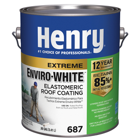 Shop henry company enviro white 0 9 gallon elastomeric for Most reflective white paint