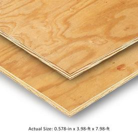 19/32 CAT PS1-09 Pine Plywood Sheathing, Application as 4 x 8