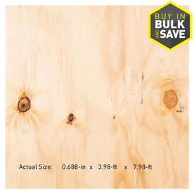 Plytanium 23/32 x 4 x 8 Pine Sheathing Plywood