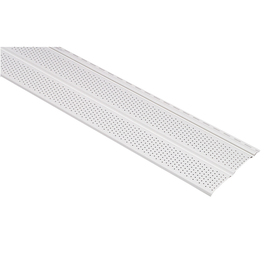  10-in x 12-ft White Double Vented Soffit