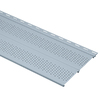 Gray Double Vented Soffit (Common: 10-in x 12-ft; Actual: 10-in x 12-ft)
