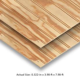 Plytanium 48-in x 96-in Beaded Untreated Wood Siding